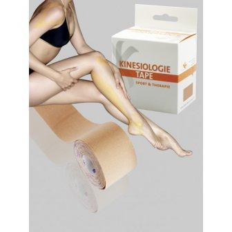 Kinesio-Logie Tapeband Haut / flesh Sporttape, 5,0 mtr x 2,5 cm