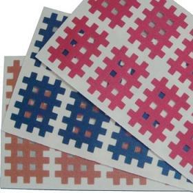 Gitter Akupunktur flesh, pink, blau, weiss, je 40 St. 2.1x2.7cm