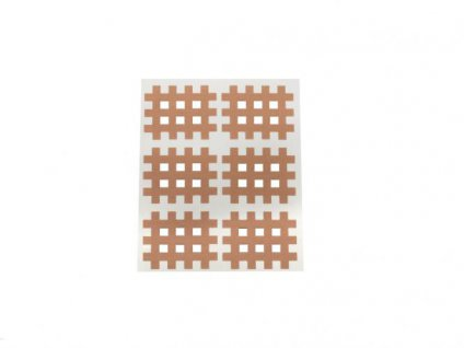 Gitter Akupunkturpflaster Form: Gitter 120 St. hautfarbe 28x36mm