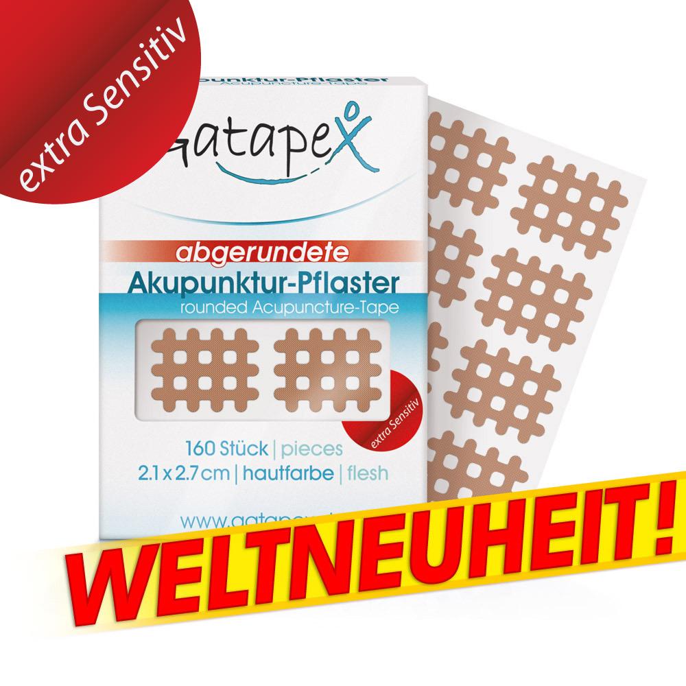 Gitter Akupunktur-Pflaster Weltneuheit *Extra Sensitiv* flesh 160 St. 2,1 x 2,7cm mit abgerundeten Ecken hautfarbe