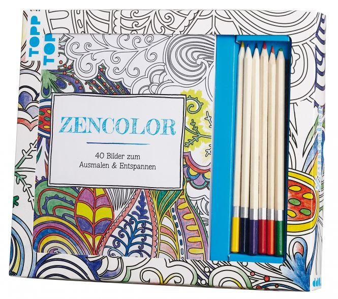Kreativ-Set Zencolor / Ruhe und Entspannung zum Sofort-Loslegen / Ausmalen für Erwachsene