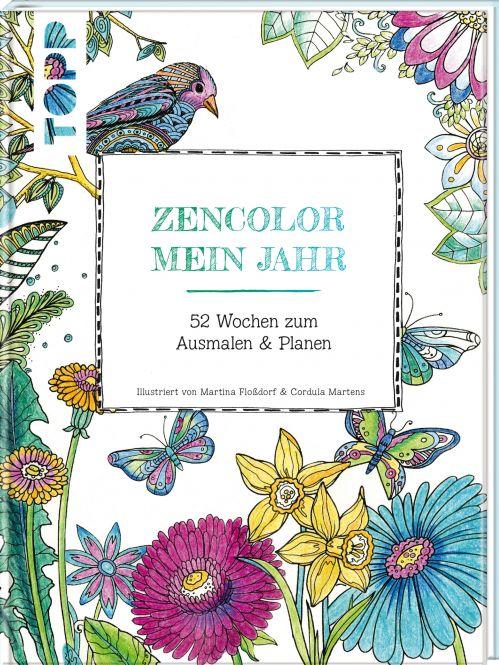 Buch: Zencolor Mein Jahr / 52 Wochen zum Ausmalen & Planen (Ausmalen für Erwachsene)